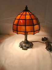 Tiffany Style Stained Glass Lamp with Cast Base