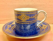"Royal Worcester ""Blue Gilt"" Pattern Cabinet Cup & Saucer 1926."