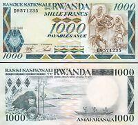 Rwanda 1000 Francs 1988,  UNC , P-21