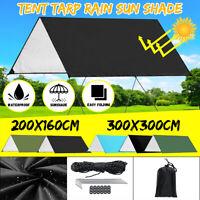 3*3m Waterproof Camping Tent Tarp Shelter Hammock Cover Rain Fly Camping Picnic