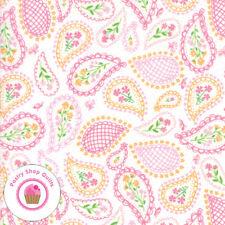 Moda SUNDAY PICNIC 20673 11 Pink Paisley STACY HSU Quilt Fabric Children's