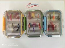 Fliegenbox  mit 12 Fliegen in versch Größen und Ausführungen