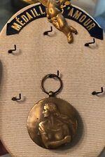 Antique Merit Medal Decoration Order Cross Flowing Hair Deco Lady Resistere