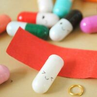 50Pcs Smile Expression Pill Craft Mixed Color Mini Message Letter Capsule Pills