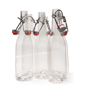 12 x Swing Top PET Plastic Bottles Grolsch Style Home Brew Beer Cider 500ML