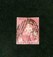 Mauritius Stamps # 11 F-VF used Scott Value $240.00