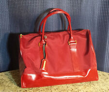 Estee Lauder Red Travel Handbag Shoulder Bag Large