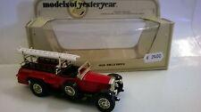 MATCHBOX 1:48 AUTO DIE CAST ROLLS ROYCE POMPIERI 1920 ROSSO ART  Y-6  Y6