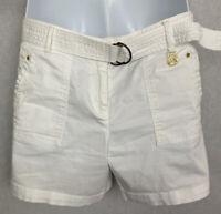 Michael Kors Women's Shorts Size 8 W/ Belt Pockets Cotton/Spandex Gold Accents