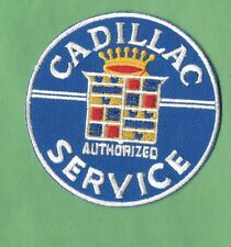New Cadillac 'Service' Round 3 Inch Iron on Patch Free Shipping
