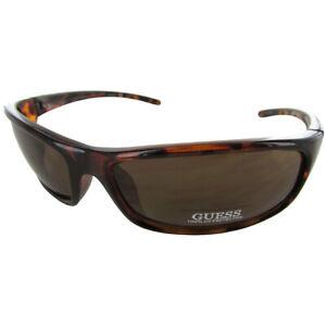 Guess Mens GU6250 Sport Shield Fashion Sunglasses, Tortoise/Amber