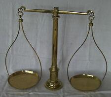 ancienne balance d'apothicaire XIXème en bronze et laiton scale waage bilancia