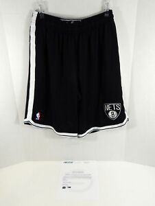 2013-14 Brooklyn Nets Marquis Teague #12 Game Used Black Shorts Pro Cut