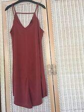 River Island dark red strappy dress with drapped hem size 14