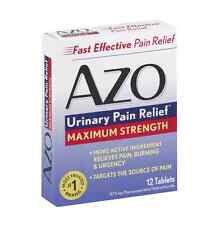 AZO Standard Tablets Maximum Strength 12 Tablets (Pack of 2)