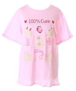 TP-163-1 Rosa Schweinchen Pig Erdbeer Sakura Print T-Shirt Pastel Lolita Kawaii
