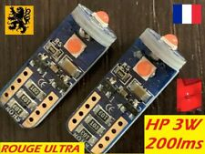 2x T10 W5W ROUGE 🛑ULTRA RED 1000k LED PREMIUM 3 x CEL30 - THP 200 Lm  12V 3W ⚠️
