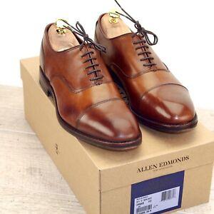 * NIB * $455 Allen Edmonds BOND Street 8.5 D Walnut * new Shoe Trees AE Bags