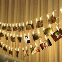5M 50 Photo Clip LED String Light Ceremony Wedding Bedroom Party Fairy Decor