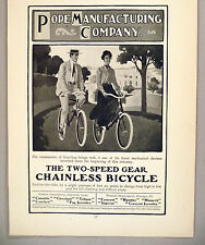 Pope Chainless Bicycle PRINT AD - 1904 ~ bicycles