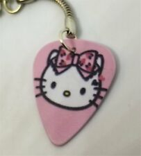 Hello Kitty with Pink Bow Guitar Pick Key Chain