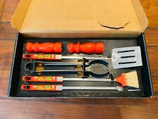 More details for nice brand new vintage 70's bbq set made in usa by 'ekco'