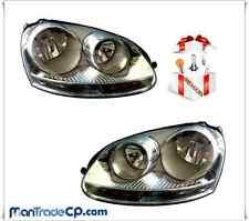 COPPIA FANALE FARO ANTERIORE DX/SX CHROME VW GOLF V 05/2003-> OMAGGIO LAMPADE