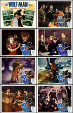 THE WOLF MAN  LON CHANEY JR Complete Set OF 8 Individual 11x14  LC PRINTS R-48