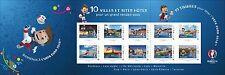 Timbre collection 10 timbres de villes et sites hôtes de uefa euro 2016  NEUFS