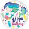 Sirène & Narwhal Seaworld Joyeux Anniversaire 18 Pouces Ballon Plat