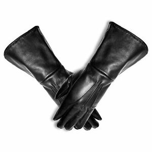 Renaissance Long Arm Cuff Gloves For Men Genuine Leather Men Fencing Gauntlets