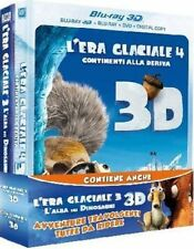 Blu Ray La'ERA GLACIALE 4 (3D) + 3 (3D)(2 B.Ray 3D+2 b.Ray+ 2 Dvd)