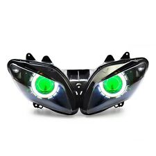 KT LED Angel Eye HID Projector Headlight Assembly for Yamaha YZF R1 2002 2003