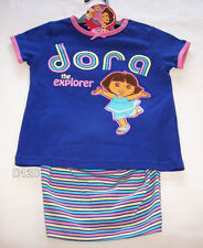 Dora The Explorer Girls Blue Pink Pyjama Set Size 5 New
