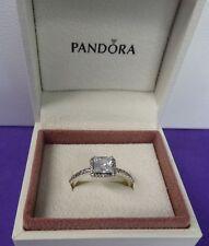 PANDORA 190947CZ GENUINE NEW SILVER TIMELESS ELEGANCE RING SIZE 56