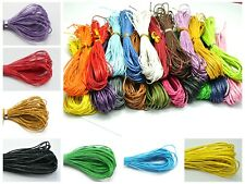 100 Meters  Waxed Cotton Beading Cord 1mm for Bracelet Neckla Pick up Color