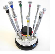 Horlogers authentique 9 Tournevis Set sur renouvelable de base (made in France) - HS99
