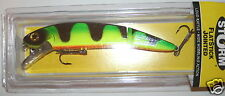 """7 1/2"""" Jointed FlatStick Size 19 Green Tiger Storm Rapala Lure Musky Pike"""