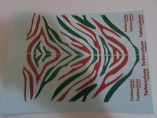 1/18 scale Modified Tuning TIGER STRIPE RED & GREEN decal