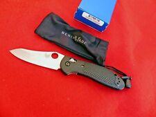 "Benchmade Griptilian 550HG Folding Knife 3.45"" Satin Drop Point Plain Black ld"