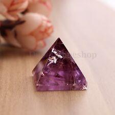 Amethyst Crystal Healing Orgone Pyramid Quartz Clear Crystal Pyramid Purple 25mm
