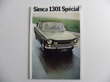 Brochure / catalogue CHRYSLER SIMCA 1301 Spécial de 1973