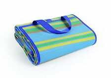 Waterproof Beach Mat Large Sand Free Sandless Picnic Blanket Straw Camping Rug