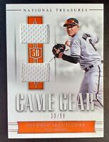 2018 Panini National Treasures MANNY MACHADO Game Gear Dual Jersey Patch SP /99