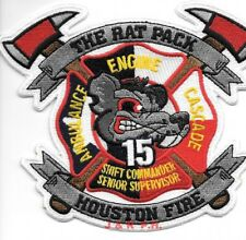 """Houston Station - 15  """"Rat Pack"""", Texas (5.5"""" x 4.75"""" size)  fire patch"""