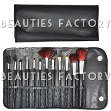 BF 12 pcs Makeup Brush Set Cosmetic Brush Kit Tool Leather Holder Case #177