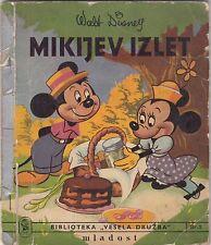 WALT DISNEY MIKI MAUS MIKIJEV IZLET RARE PICTURE BOOK 1959 YEAR YUGOASLAVIA