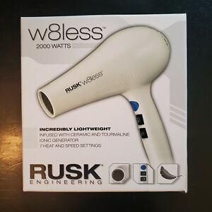 Rusk W8less Professional Lightweight Ceramic Tourmaline Hair Dryer 2000 White