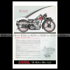 #phpb.002798 Photo ARIEL RED HUNTER 350 MODEL NH 1939 MOTORCYCLE Advert Reprint
