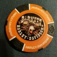 BARNETT HD ~ Texas ~ (Full Color Orange/Black) Harley Davidson Poker Chip